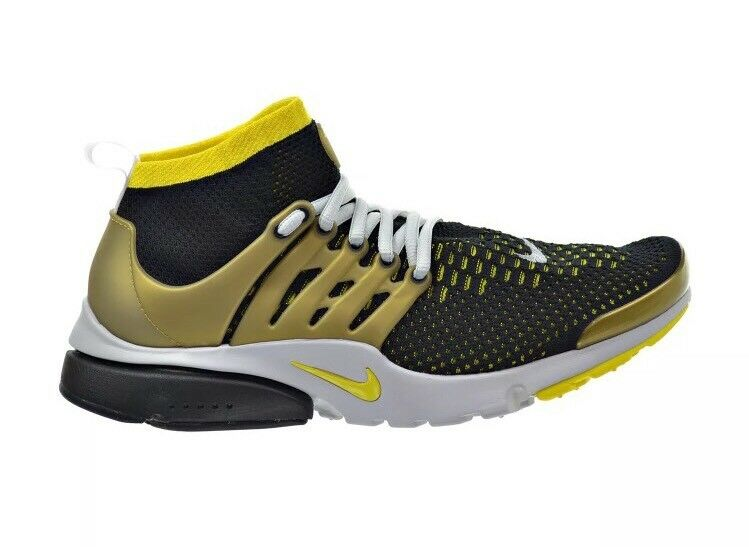 New Sz 10 NIKE AIR PRESTO FLYKNIT ULTRA BLACK-YELLOW STRIKE-gold 835570-007 Run