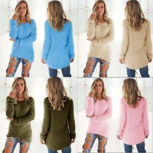 NEW-Womens-Long-Sleeve-Knit-Sweater-O-Neck-Casual-Knitwear-Jumper-Pullover-Tops