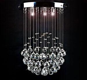 Led Decken Lampe Kristall Leuchte Funkelnd Tropfchen Kugel