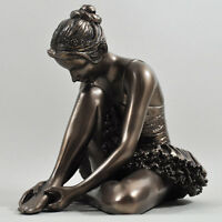 Ballerina Preparing Cold Cast Bronze Sculpture By Beauchamp Bronze