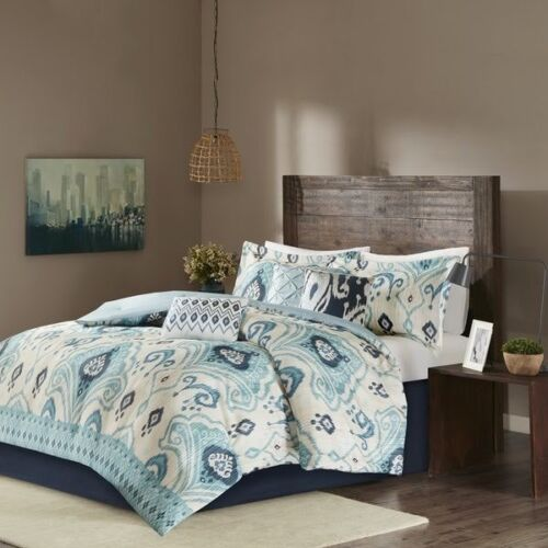 NIP Madison Park Home Sabina KingCal King Duvet Cover Set 6pc