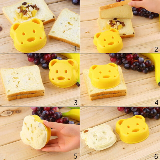 Animal Sandwich Mold Cutter Bear Dog Dinosaur Shape Cakes Bread Toast Makers  JR