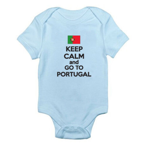 Europe Suit Fun Themed Baby Grow Portuguese KEEP CALM AND GO TO PORTUGAL