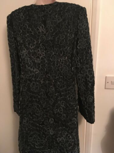Pattern Bl Silk Coat Ladies Raised And Size nk Leather M London 0xqwPnR0Fr