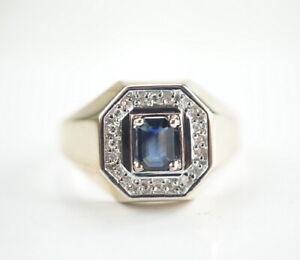 585er-Gold-Ring-Saphir-Altschliff-Diamant-Edelstein-14K-Gelbgold-5-75g-Gr-72