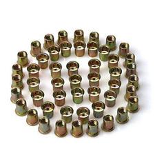 50pcs Steel Rivet Nut Rivnut Insert Nutsert 38 16 38 Carbon Steel Zinc Plated