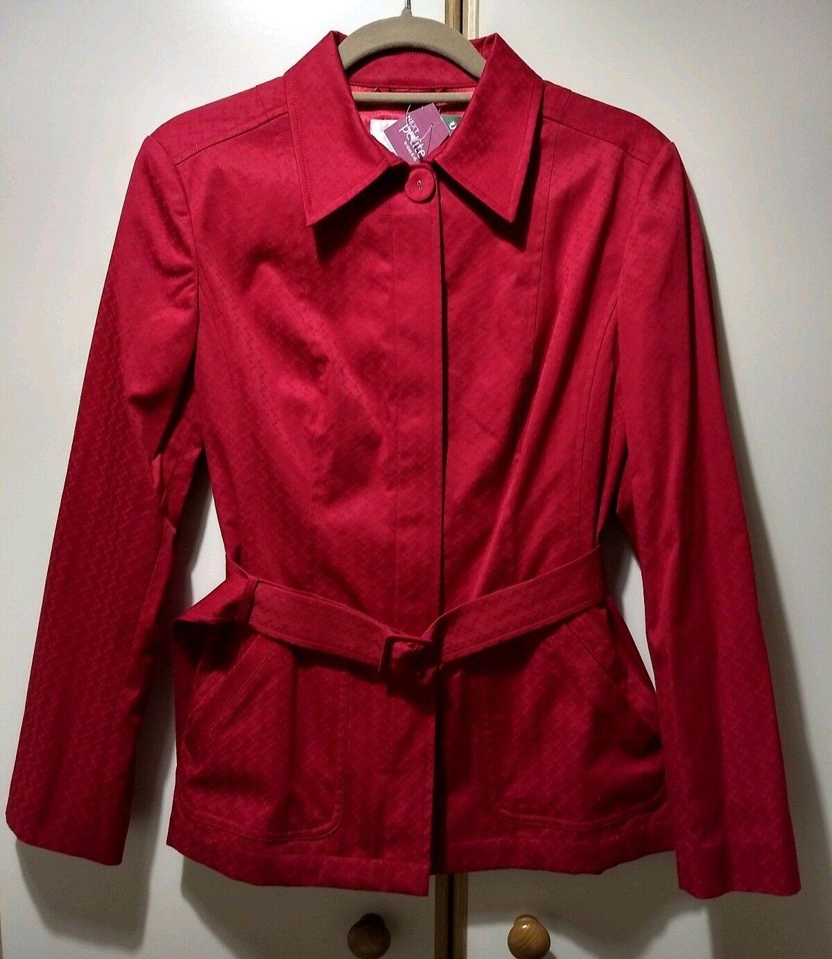 Rouge Femme Petite Veste Uk12 Next Étiquettes Manteau SgqwgFR