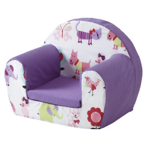 Cute Pets Purple Childrens Kids Comfy Foam Chair Toddlers ...