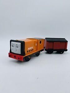 Trackmaster Motorized Thomas & Friends Train Rusty W/ Cargo Car