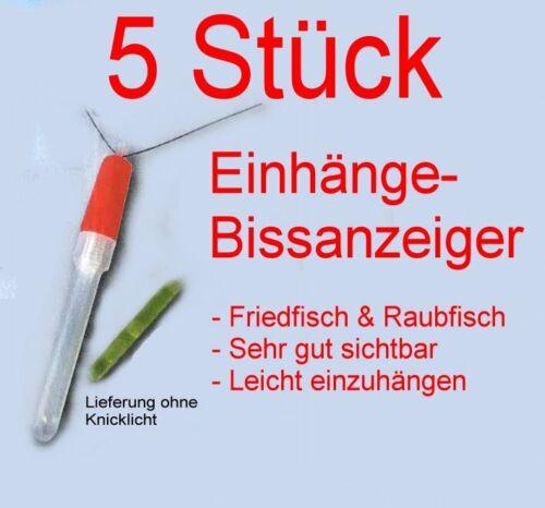 5 Stück Bissanzeiger Einhänger f Rod Pod Bankstick Angelrute Angelrolle 2€//Stk