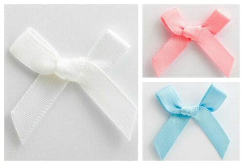 6mm Satin Ribbon Crafts Wedding Card Making Small 3cm Wide Pre-Tied Mini Bows