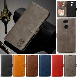 Cat-Wallet-Leather-Flip-Stand-Case-Cover-For-Sony-Xperia-10-XA-XA1-XA2-XA3-L2-L3