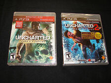 Uncharted: 1 & 2 (PLAYSTATION 3 , PS3)  ***NEW FACTORY SEALED***