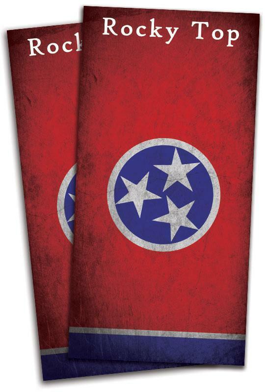 Tennessee Flag Cornhole Bag Toss Wrap Set
