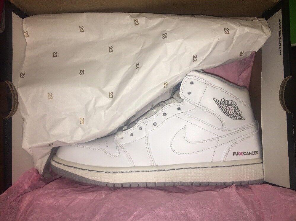 Air Jordan 1 / Nike F*ck Cancer Breast Awareness Save The Boobies Sz 8.5 Sample