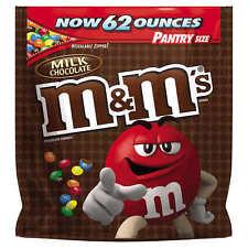 M&Ms Plain 62 oz PANTRY SIZE Original Bulk Chocolate Candy Bag NEW! - NO TAX!