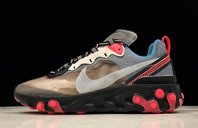bronce Seminario Descubrir  Brand New Nike React Element 87 Blue Chill Solar Red AQ1090-006 Multiple  Sizes | eBay