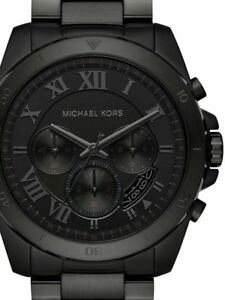 50fad4869abd Image is loading Michael-Kors-MK8482-Men-039-s-Brecken-Black-