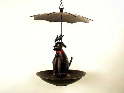 Blue Handworks Black Lab Bistro Flat Bottom Seed Feeder Geblueg135f Ebay