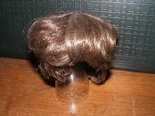 Ältere Kunststoff-Perücke-dunkelbraun-für Puppe-Kopf-Umfang  ca  28  cm