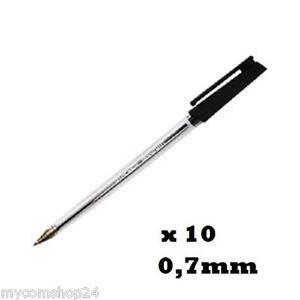 10-x-Staples-Kugelschreiber-0-7mm-Schwarz-Black-10er-Pack-im-Blister-NEU-OVP