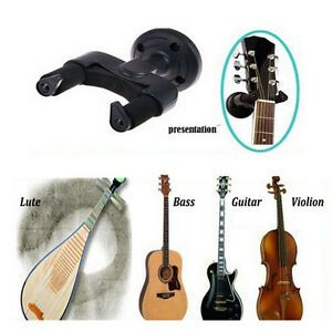 guitar display wall mount hanger bracket hook bass electric acoustic bass holder ebay. Black Bedroom Furniture Sets. Home Design Ideas