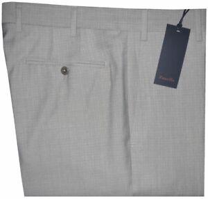 395-NEW-ZANELLA-NORDSTROM-DEVON-PALE-LIGHT-GRAY-BEIGE-120-039-S-WOOL-DRESS-PANTS-34