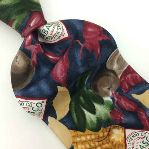 TABASCO USA Tie Corn Shrimps Vegetables Green Gra… - image 1