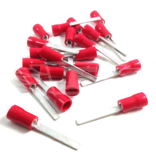 Rojo Hoja 11.0 mm Push en los conectores terminales Auto Cableado Eléctrico RB11