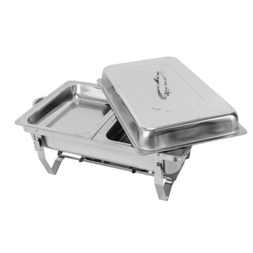 7,5L Chafing Dish Speisenwärmer Edelstahl Warmhaltebehälter Wärmebehälter Set
