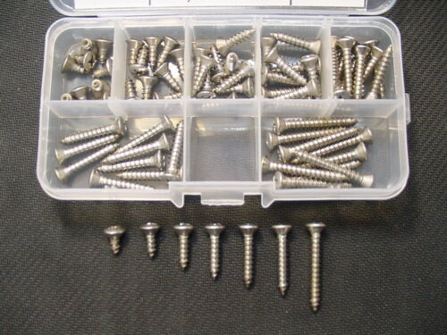#8 Stainless Steel Oval Phillips Head Automotive Sheet Metal Trim Screws Chevy