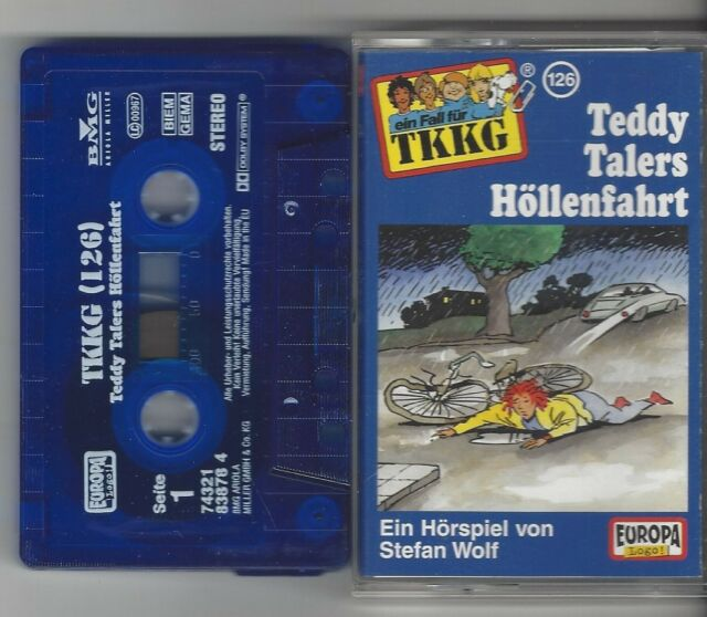 MC - TKKG - Folge 126 Teddy Talers Höllenfahrt - EA - 1. Auflage 2001 RARITÄT