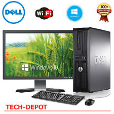 """Dell Desktop PC Computer Core 2 Duo 4GB Windows 10 w/ 17"""" LCD Monitor -FAST"""