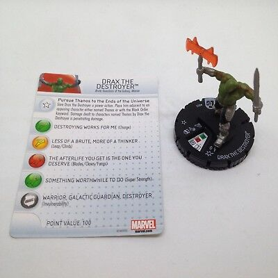 w//card! Heroclix Guardians of the Galaxy set Drax the Destroyer #002 Common fig