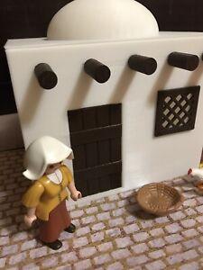 Playmobil-Casa-Belen-medieval-custom-3D-Romano-caballero-musulman-Ritter