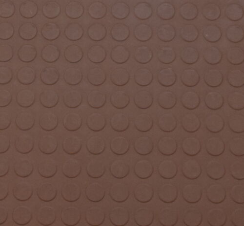 Brown Opus Round Stud Indoor Highest Quality Rubber Floor Tiles 1m² x 3mm thick