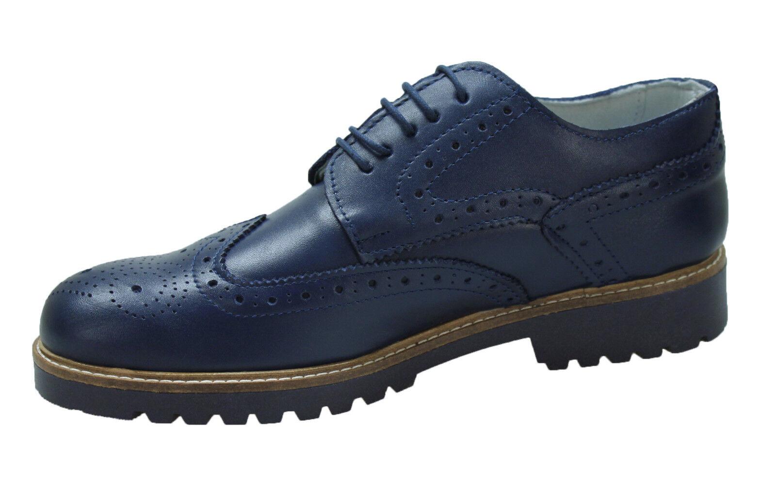 shoes men DIAMOND VÉRITABLE CUIR blue CASUAL ÉLÉGANT 100% MADE IN ITALY