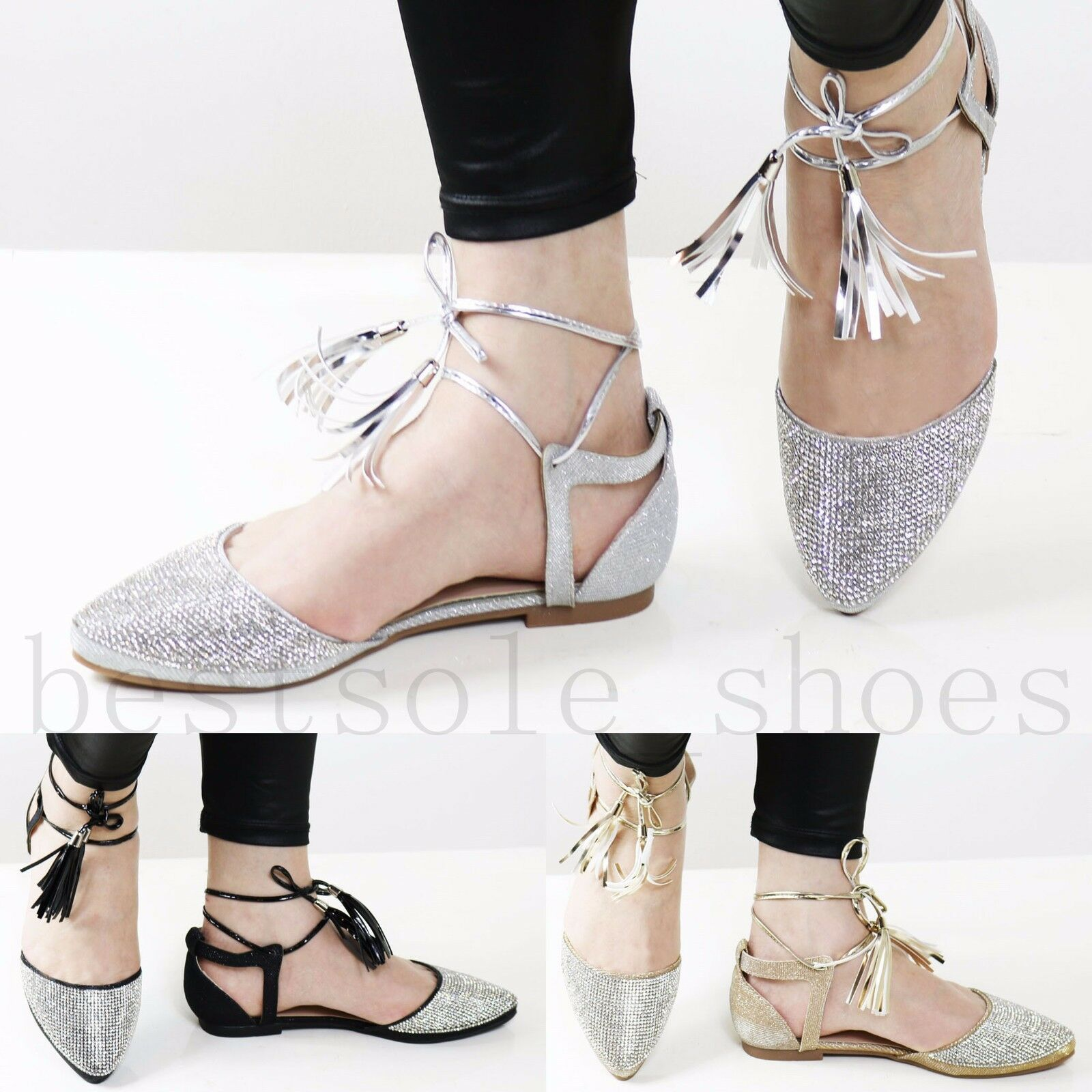 LADIES SUMMER WOMENS DIAMANTE ANKLE STRAP SANDALS FLAT SUMMER LADIES DRESSY BEACH SHOES SIZE f2a7a8