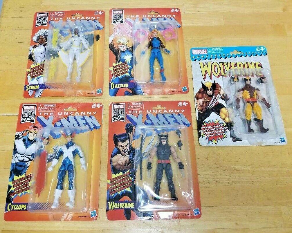 Marvel Legends  X-Men Retro  Action Figures  STORM  Wolverine CyclopsLOT