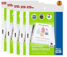 5 Pack Standard Weight Top Loading Sheet Protectors 10pack Protect Papers