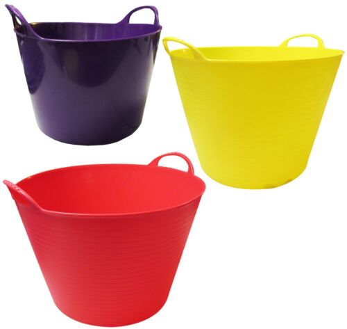 14L 26L + 40L SET FLEXI TUBS GARDEN BUCKET STORAGE CONTAINERS horse plaster
