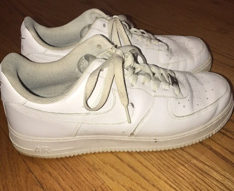 NIKE AIR FORCE 1 Leather BestPlayerEver Jordans WHITE Vintage Mens shoes Sz 10