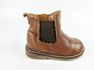 Next Infant Baby Girls Brown Leather
