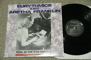 EURYTHMICS-ARETHA-FRANKLIN-12-034-Dance-Maxi-Single-33rpm-vinyl-LP-EP-NM-1985