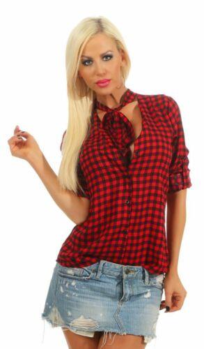 lunga quadri Camicia Donna Blusa Camicia Blusa Camicia A Quadri 11465 DONNA CASUAL MAN