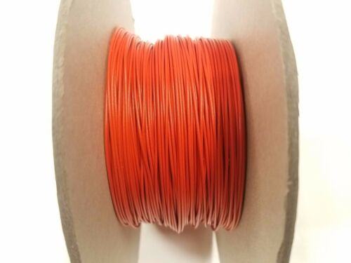 500/' Foot Orange 22 AWG Gauge Solid Tinned Copper Flexible THHW Wire Primary