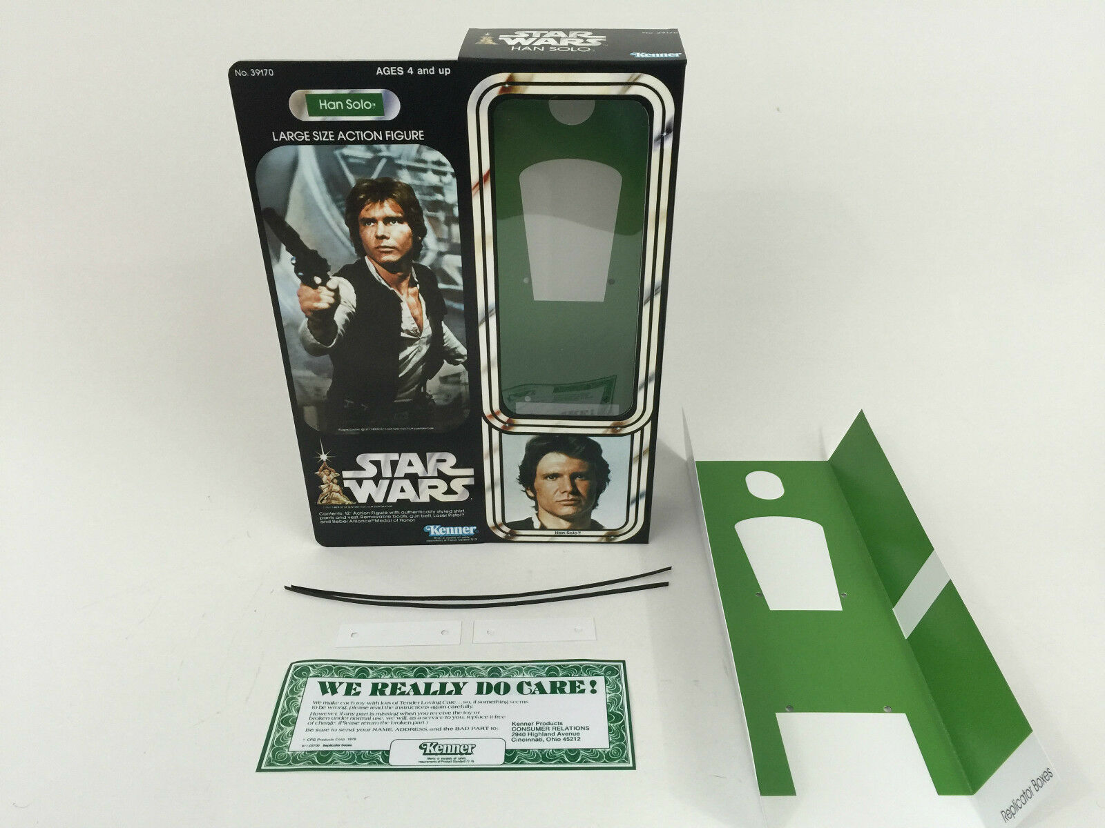 Replacement vintage vintage vintage star wars 12  han solo box + inserts ee0bde