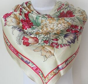 Gorgeous-Ladys-Square-Scarf-100-Silk-RICH-FLORAL-Scarf-Shawl-Wraps