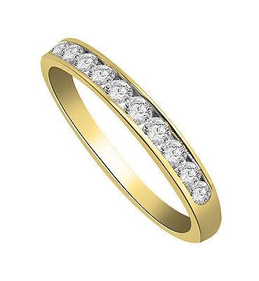 Engagement Wedding Ring Band 0.40 Ct Round Cut Diamond Jewelry 14Kt Yellow Gold