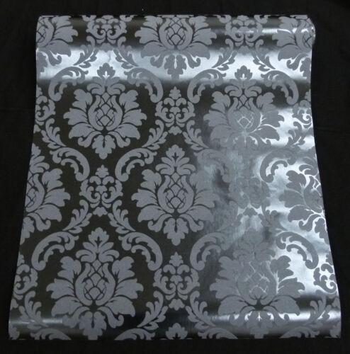 de haute qualité Black Baroque Papier Peint Vinyle Papier Peint à un prix spécial 08521-60
